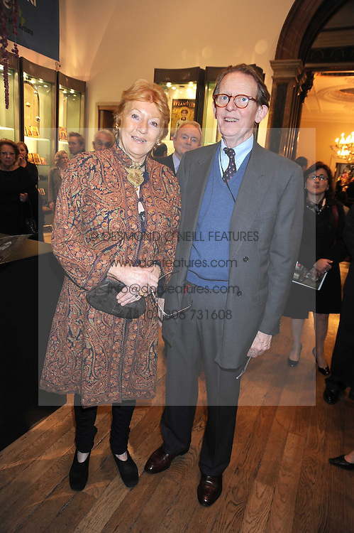 LADY HAMLYN and WILLIAM DRUMMOND at the opening of the Royal Academy of Arts Byzantium 330-1453 exhibition held at the RA, Burlington House, Piccadilly, London on 21st October 2008.