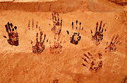 Hands pictographs, Natural Bridges National Monument, Utah