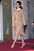 Staatsbezoek Denemarken - Dag 1. Aankomst van het Koninklijk gezelschap op vliegveld Kastrup<br /> <br /> State visit Denmark - Day 1. Arrival of the Royal Family at Kastrup airport<br /> <br /> op de foto / On the photo:  Prinses Mary / Princes Mary