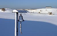 Noordwijkse GC in de sneeuw Hole 15. Bel .