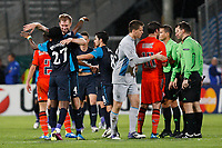 FOOTBALL - UEFA CHAMPIONS LEAGUE 2011/2012 - GROUP STAGE - GROUP F - OLYMPIQUE MARSEILLE v ARSENAL - 19/10/2011 - PHOTO PHILIPPE LAURENSON / DPPI - JOY ARSENAL AFTER MATCH