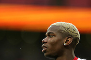 Paul Pogba of Manchester Utd looks on during the pre match warm up. EFL Cup Final 2017, Manchester Utd v Southampton at Wembley Stadium in London on Sunday 26th February 2017. pic by Andrew Orchard, Andrew Orchard sports photography.