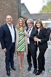 Left to right, JONATHAN KRON, GEORGINA COHEN, FRANK COHEN and CHERRYL COHEN at a private view in aid of Chickenshed of Julian Schnabel's first UK solo show of paintings for 15 years entitled 'Every Angel Has A Dark Side' held at the Dairy Art Centre, 7a Wakefield Street, Bloomsbury, London on 24th April 2014.