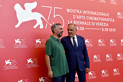 Jury photocall during the 75th Venice Film Festival. 29 Aug 2018 Pictured: Salvatore Mereu, Alberto Barbera. Photo credit: M. Angeles Salvador/MEGA TheMegaAgency.com +1 888 505 6342