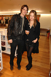 JESSE & TILLY WOOD he is the son of Rolling Stone Ronnie Wood at a party to celebrate the opening of the new Uniqlo store at 331 Oxford Street, London W1 on 6th November 2007.<br />