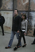 Fritz von Westenholz and Caroline Sieber, Aperiatur Terra, Private View of work by  Anselm Kiefer<br />White Cube, Mason's Yard. - Afterwards dinner at the  NCP Brewer Street (Top<br />Floor)  London, 25 January 2007. -DO NOT ARCHIVE-© Copyright Photograph by Dafydd Jones. 248 Clapham Rd. London SW9 0PZ. Tel 0207 820 0771. www.dafjones.com.