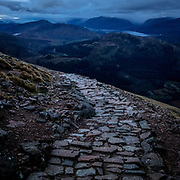 4.50pm Last light above Glen Nevis, Ben Nevis, Highland, Scotland.