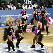 Anadolu Efes's show girls during their Turkish Airlines Euroleague Basketball Group C Game 6 match Anadolu Efes between Partizan at Sinan Erdem Arena in Istanbul, Turkey, Wednesday, November 23, 2011. Photo by TURKPIX