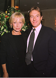 The HON.NIGEL & MRS HAVERS he is the actor, at a dinner in London on 29th September 1998.MKK 9