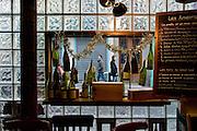 """Intérieur du bar à vin """"Le Verre Volé"""", rue de Lancry, Paris, Paris-Ile-de-France, France. <br /> Interior of the wine bar """"Le Verre Volé"""", street of Lancry, town of Paris, Paris-Ile-de-France region, France."""