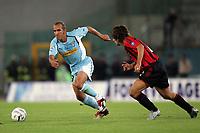 Roma 26/9/2004 Campionato Italiano Serie A 2004/2005 4a giornata - Matchday 4 <br /> <br /> Lazio Milan 1-2<br /> <br /> Paolo Di Canio Lazio and Andrea Pirlo Milan<br /> <br /> foto Andrea Staccioli Graffiti