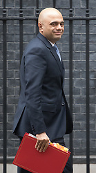 Downing Street, London, January 31 2017. Communities and Local Government Secretary Sajid Javid leaves 10 Downing Street following the weekly meeting of the UK cabinet.