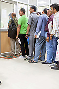 People queueing at the Driving Licence authority, New Delhi, India