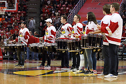 03 February 2018:  ISU Drum Corp during a College mens basketball game between the Evansville Purple Aces and Illinois State Redbirds in Redbird Arena, Normal IL