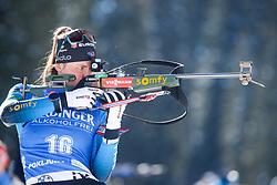 Justine Braisaz-Bouchet of France competes during the IBU World Championships Biathlon 15km Individual Women competition on February 16, 2021 in Pokljuka, Slovenia. Photo by Primoz Lovric / Sportida