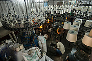 Spinning cotton looms, Jorasanko, Calcutta