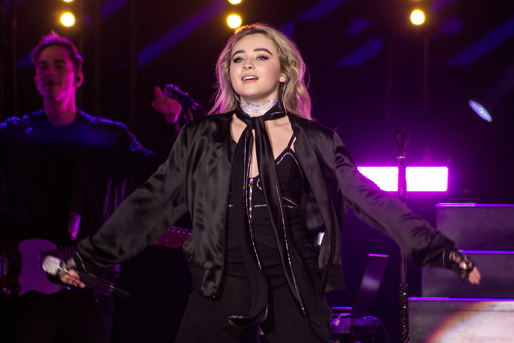 Sabrina Carpenter performing at the Wisconsin State Fair in Milwaukee, WI on August 11, 2017.