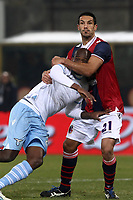 """Nicolo' Cherubin Bologna Michael Ciani Lazio.Bologna 10/12/2012 Stadio """"Dall'Ara"""".Football Calcio Serie A 2012/13.Bologna v Lazio.Foto Insidefoto Paolo Nucci."""