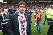 Middlesbrough Manager Aitor Karanka  during the Sky Bet Championship match between Middlesbrough and Brighton and Hove Albion at the Riverside Stadium, Middlesbrough, England on 7 May 2016. Photo by Simon Davies.