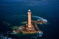 France, Manche (50), Cotentin, Cap de la Hague, Auderville, pointe du Cotentin, le phare de Goury // France, Normandy, Manche department, Cotentin, Cap de la Hague, Auderville, tip of Cotentin and Goury lighthouse