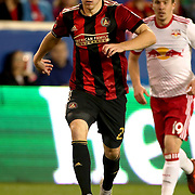 HARRISON, NEW JERSEY- OCTOBER 15: Julian Gressel #24 of Atlanta United in action during the New York Red Bulls Vs Atlanta United FC, MLS regular season match at Red Bull Arena, Harrison, New Jersey on October 15, 2017 in Harrison, New Jersey. (Photo by Tim Clayton/Corbis via Getty Images)