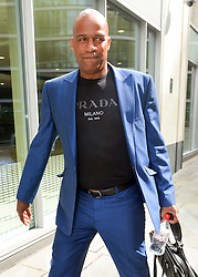 © Licensed to London News Pictures. 15/07/2015. <br /> LONDON, UK. Neville Hendricks arrives at the High Court today. The TV producer is in a dispute with ITV2, London, Wednesday 15 July 2015. Photo credit : Hannah McKay/LNP