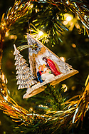 A nativity scene ornament and other decorations on Wednesday, Dec. 16, 2020, at Immanuel Lutheran Church, Festus, Mo. LCMS Communications/Erik M. Lunsford