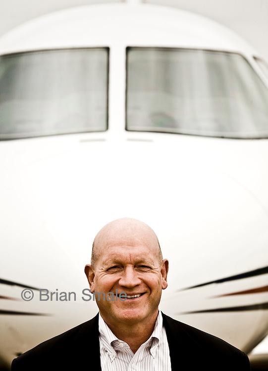 Jim Schuster, CEO of Hawker Beechcraft. These photos shot in Wichita KS, for Fortune Magazine.
