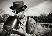 Don Flemons from the Carolina Chocolate Drops playing a jug