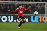 Victor Lindelof of Manchester United in action. EFL Carabao Cup 4th round match, Swansea city v Manchester Utd at the Liberty Stadium in Swansea, South Wales on Tuesday 24th October 2017.<br /> pic by  Andrew Orchard, Andrew Orchard sports photography.