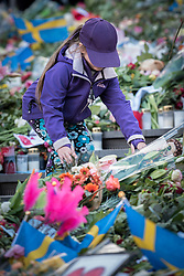 10 April 2017, Stockholm, Sweden: Three days after a lorry was driven into a store in central Stockholm, killing at least four people and injuring many more, an interreligious service was held at Sergels torg in central Stockholm, to commemorate the victims of violence, and to pray together, for a future of compassion and peace together. The event was attended by representatives of a range of religions present in Stockholm and Sweden as a whole.