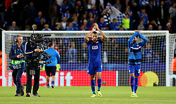Islam Slimani of Leicester City applauds the fans at full time - Mandatory by-line: Matt McNulty/JMP - 27/09/2016 - FOOTBALL - King Power Stadium - Leicester, England - Leicester City v FC Porto - UEFA Champions League
