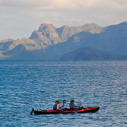 Kayakers enjoying Loreto's scenery.