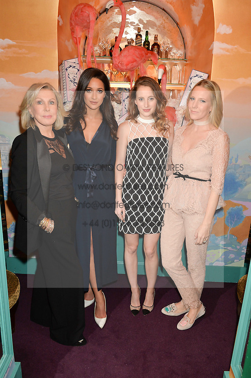 Left to right, JANE WINKWORTH, ROXIE NAFOUSI, ROSIE FORTESCUE and ALICE NAYLOR-LEYLAND at a party to celebrate Alice Naylor-Leyland's Collaboration with French Sole held at Annabel's, 44 Berkeley Square, London on February 2nd 2016