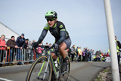 Marta Tagliaferro crests the VAMberg for the second time at Ronde van Drenthe 2017. A 152 km road race on March 11th 2017, starting and finishing in Hoogeveen, Netherlands. (Photo by Sean Robinson/Velofocus)