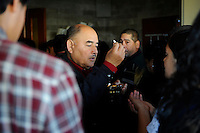 For believers who could not fit in the church, communion was given in the vestibule just outside. El Cristo Rey church in Salinas saw overflow crowds on this important holy day.