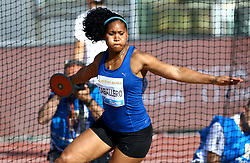 May 31, 2018 - Rome, Italy - Denis Caballero (CUB) competes in discus throw women during Golden Gala Iaaf Diamond League Rome 2018 at Olimpico Stadium in Rome, Italy on May 31, 2018. (Credit Image: © Matteo Ciambelli/NurPhoto via ZUMA Press)