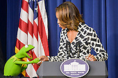 DC: First Lady Michelle Obama delivers remarks during screening of Disney's Muppets Most Wanted