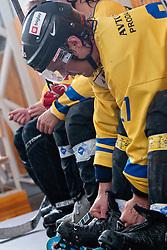 Dejan Zemva of Troha Pub Bled at final match of IZS Masters 2011 inline hockey between Troha Pub Bled and HK Prevoje, on June 4, 2011 in Sportni park, Horjul, Slovenia. (Photo by Matic Klansek Velej / Sportida)