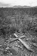 Grave site, ghost town of Fairbank, Arizona