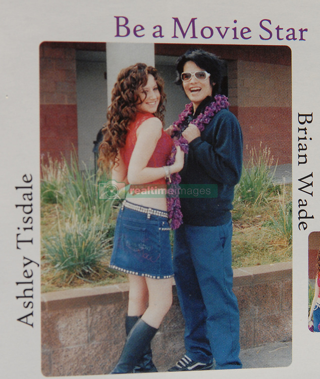 May 15, 2003; Valencia, CA, USA; 'High School Musical' star ASHLEY TISDALE was voted 'Most Likely to Be a Movie Star' (with fellow student BRIAN WADE) in her senior year at Valencia high school in California in 2003. Tisdale has fulfilled her classmates' predictions - 'High Schoo Musical 2' was the most watched basic cable telecast of all time (Credit Image: © Courtesy Valencia High School/ZUMAPRESS.com)