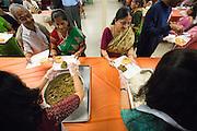 Thousands participate in prayer, celebration, and eating during Diwali at the Shreemaya Krishnadham Temple in Milpitas, California, on November 10, 2013. (Stan Olszewski/SOSKIphoto)