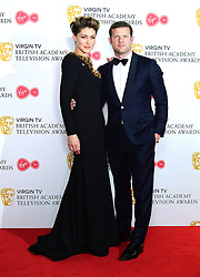 Emma Willis and Dermot O'Leary in the press room at the Virgin TV British Academy Television Awards 2018 held at the Royal Festival Hall, Southbank Centre, London.