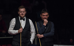 May 19, 2018 - Budapest, Hungary - Shaun Murphy (L) and Jimmy White (R) during the III. Hungarian Snooker Gala on May 19, 2018 in Budapest, Hungary. (Credit Image: © Robert Szaniszlo/NurPhoto via ZUMA Press)