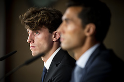 July 18, 2018 - Madrid, Spain - Alvaro Arbeloa and Alvaro Odriozola during the press conference of his presentation as new Real Madrid player at Santiago Bernabéu Stadium in Madrid, Spain. July 18, 2018. (Credit Image: © Coolmedia/NurPhoto via ZUMA Press)