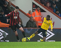 Bournemouth's Jack Simpson (left) is tackled by Arsenal's Ainsley Maitland-Niles (right) <br /> <br /> Photographer David Horton/CameraSport<br /> <br /> The Premier League - Bournemouth v Arsenal - Thursday 26th December 2019 - Vitality Stadium - Bournemouth<br /> <br /> World Copyright © 2019 CameraSport. All rights reserved. 43 Linden Ave. Countesthorpe. Leicester. England. LE8 5PG - Tel: +44 (0) 116 277 4147 - admin@camerasport.com - www.camerasport.com