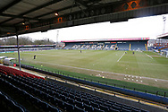 General view of Spotland during the EFL Sky Bet League 1 match between Rochdale and Burton Albion at the Crown Oil Arena, Rochdale, England on 27 February 2021.