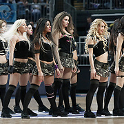 Efes Pilsen's show girls during their Turkish Airlines Euroleague Basketball Top 16 Group G Game 4 match Efes Pilsen between Real Madrid at Sinan Erdem Arena in Istanbul, Turkey, Thursday, February 17, 2011. Photo by TURKPIX