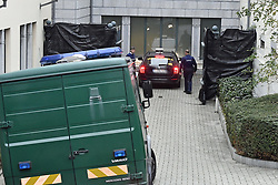 October 26, 2018 - Tongeren, BELGIUM - A taxi with a man assumed to be suspect Fabien Camus arrives for a session of the council chamber, at the justice palace in Tongeren, Friday 26 October 2018. Several suspects in a large investigation into tax evasion, money laundering and possible match fixing in Belgian first division soccer competition were arrested in 'Operatie Propere Handen' (Operation Clean Hands)...BELGA PHOTO ERIC LALMAND (Credit Image: © Eric Lalmand/Belga via ZUMA Press)