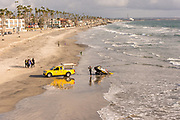 Lifeguard Rescue At The Pier In Oceanside